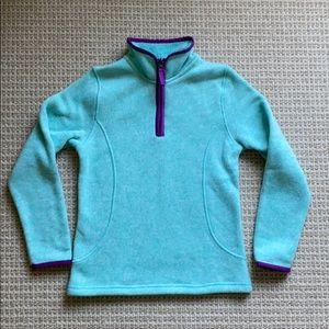Lands'End Big kids fleece pullover, size 7-8.